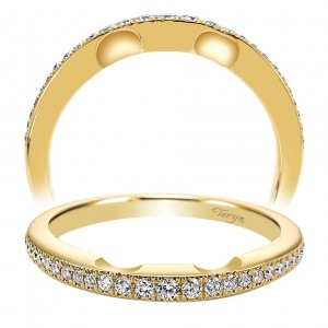 Taryn 14 Karat Yellow Gold Curved Matching Wedding Band TW4340Y84JJ
