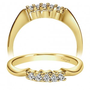 Taryn 14 Karat Yellow Gold Curved Wedding Band TW1705Y43JJ