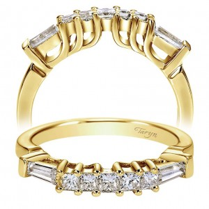 Taryn 14 Karat Yellow Gold Curved Wedding Band TW3693Y44JJ