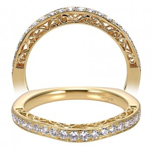 Taryn 14 Karat Yellow Gold Curved Wedding Band TW6101Y44JJ