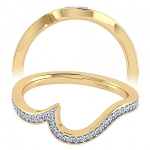 Taryn 14 Karat Yellow Gold Curved Wedding Band TW7244Y44JJ