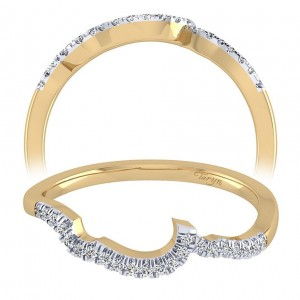Taryn 14 Karat Yellow Gold Curved Wedding Band TW8131Y44JJ