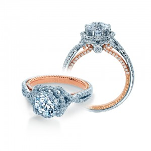 Verragio Couture-0478R-2WR Platinum Engagement Ring