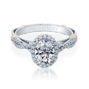 Verragio Parisian-152OV Platinum Engagement Ring
