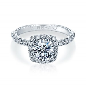 Verragio Renaissance-954CU18 14 Karat Diamond Engagement Ring