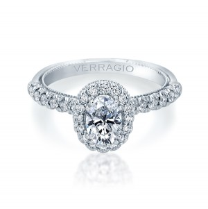 Verragio Renaissance-957OV18 14 Karat Diamond Engagement Ring