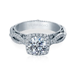 Verragio Venetian-5005CU Platinum Engagement Ring