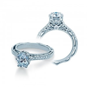 Verragio Venetian-5077OV Platinum Engagement Ring
