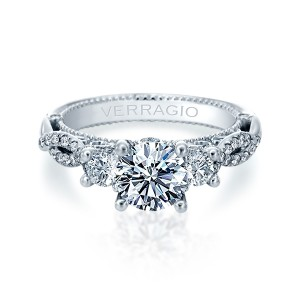 Verragio Venetian-5079R Platinum Engagement Ring