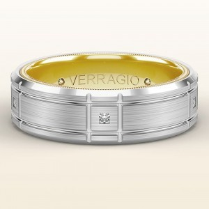 Verragio 14 Karat Wedding Band VWD-7909-2WY