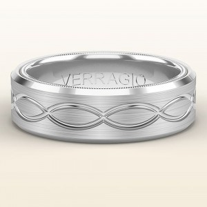 Verragio 14 Karat White Gold Wedding Band VW-7013
