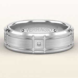Verragio 14 Karat White Gold Wedding Band VWD-7909