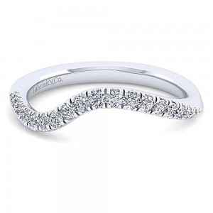 Gabriel 14 Karat White Gold Matching Wedding Band WB14465O4W44JJ