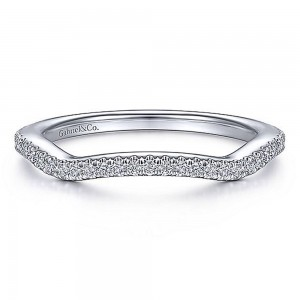 Gabriel 14 Karat White Gold Matching Wedding Band WB15279R4W44JJ