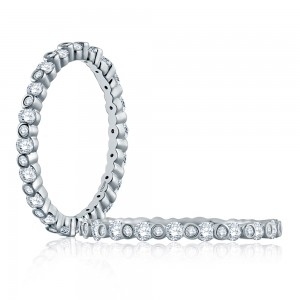 A.JAFFE 18 Karat Metropolitan Diamond Stackable Ring WR1048