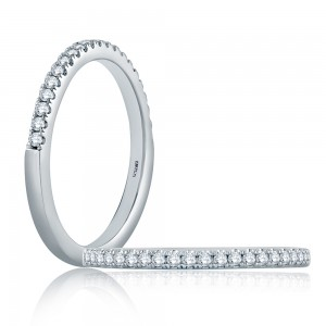 A.JAFFE Platinum Classic Diamond Stackable Ring WR1044