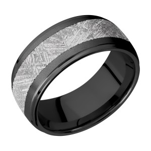 Lashbrook Z10DGE15/METEORITE Zirconium Wedding Ring or Band