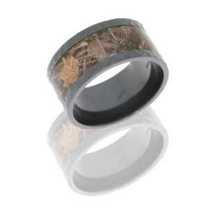 Lashbrook Z11F17/KINGSWOODLAND HAMMER-POLISH Camo Wedding Ring or Band