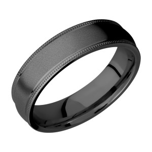 Lashbrook Z6DMIL Zirconium Wedding Ring or Band