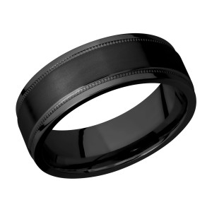 Lashbrook Z7.5FGEW2UMIL Zirconium Wedding Ring or Band
