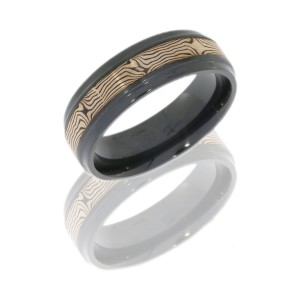 Lashbrook Z7B13/M14KRSH SATIN-POLISH Zirconium Wedding Ring or Band