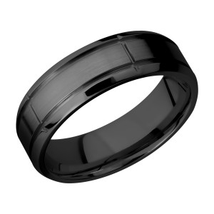Lashbrook Z7B5SEG2.75 Zirconium Wedding Ring or Band