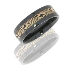 Lashbrook Z7F13/M14KRSH POLISH Zirconium Wedding Ring or Band