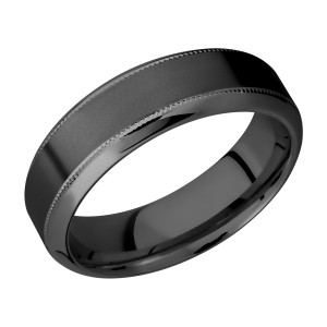Lashbrook Z7HB2UMIL Zirconium Wedding Ring or Band