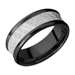 Lashbrook Z8CB15/Meteorite Zirconium Wedding Ring or Band