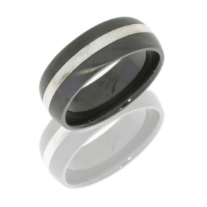 Lashbrook Z8D12/SS ALL SATIN Zirconium Wedding Ring or Band