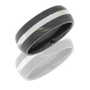Lashbrook Z8D12/SS POLISH-DOUBLE ANGLE SATIN Zirconium Wedding Ring or Band