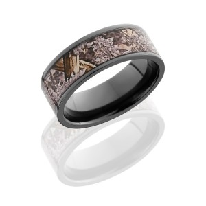 Lashbrook Z8F16/KINGSDESERT POLISH Camo Wedding Ring or Band
