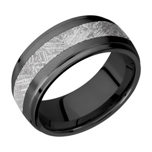 Lashbrook Z9DGE14/METEORITE Zirconium Wedding Ring or Band