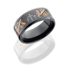 Lashbrook ZCAMO9B15SEG-3XRTAP POLISH Camo Wedding Ring or Band