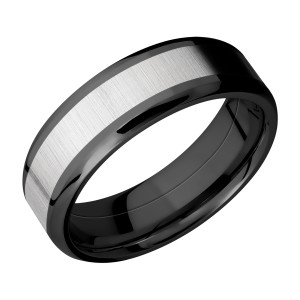 Lashbrook ZPF7B14(NS)/TITANIUM Zirconium Wedding Ring or Band