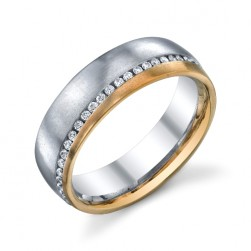 246650 Christian Bauer Plat-18K Diamond  Wedding Ring / Band