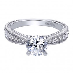 Gabriel 14 Karat Contemporary Engagement Ring ER10115W44JJ
