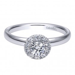 Gabriel 14 Karat Contemporary Engagement Ring ER911726R1W44JJ