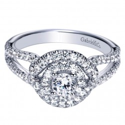 Gabriel 14 Karat Contemporary Engagement Ring ER98554W44JJ