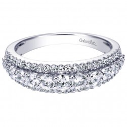 Gabriel 14 Karat Contemporary Wedding Band WB5313W44JJ