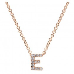 Gabriel Fashion 14 Karat Initial Initial Necklace NK4577E-K45JJ