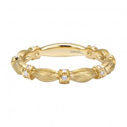 Gabriel Fashion 14 Karat Stackable Stackable Ladies' Ring LR4900Y44JJ