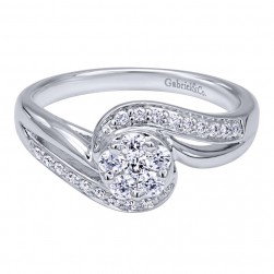Gabriel 14 Karat Contemporary Engagement Ring ER10948W44JJ