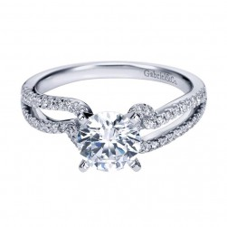 Gabriel 14 Karat Contemporary Engagement Ring ER6956W44JJ