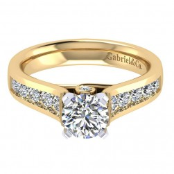 Gabriel 14 Karat Contemporary Engagement Ring ER8189M44JJ