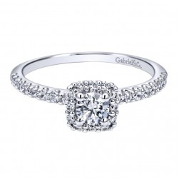 Gabriel 14 Karat Contemporary Engagement Ring ER911727R1W44JJ