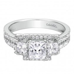 Gabriel 14 Karat Contemporary Engagement Ring ER9253W44JJ