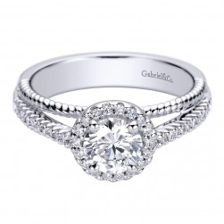 Gabriel 14 Karat Contemporary Engagement Ring ER9399W44JJ