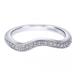Gabriel 14 Karat Contemporary Wedding Band WB10473W44JJ