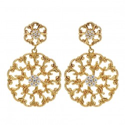 Gabriel Fashion 14 Karat Bombay Drop Earrings EG10364Y44JJ